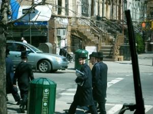 Ultraortodoxos judíos en Williamsburg, Nueva York