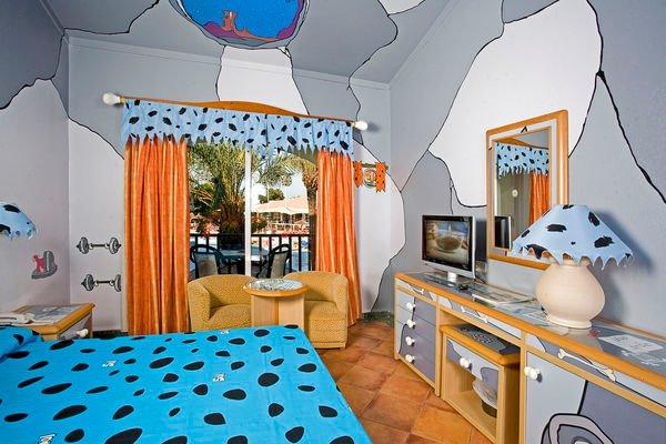 Hoteles Flintstones, habitaciones para niños
