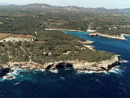 Vista aérea del Parque Natural Mondragó