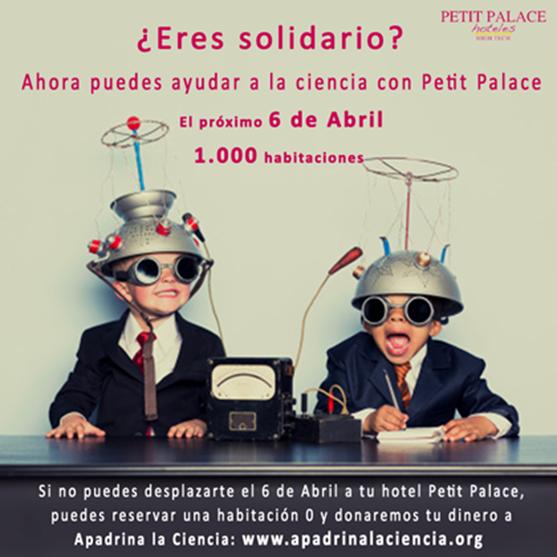 Apadrina la ciencia de Petit Palace Hotels