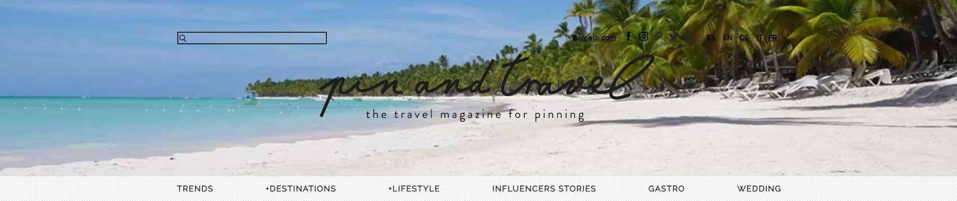Pin and Travel blog main page